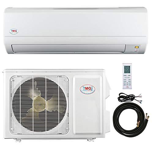 YMGI 9,000 Btu 16 SEER Ductless Mini Split DC Inverter Air Conditioner Heat Pump System - 115 Volt with Free 15 Feet Installation Kit …
