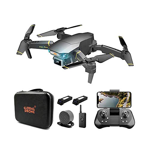 Dron con cámara 4K HD para adultos, evitación inteligente obstáculos, Dron plegable con video en vivo 100M con altavoz, modo sin cabeza, cuadricóptero con cámara gran angular ajustable, para princip
