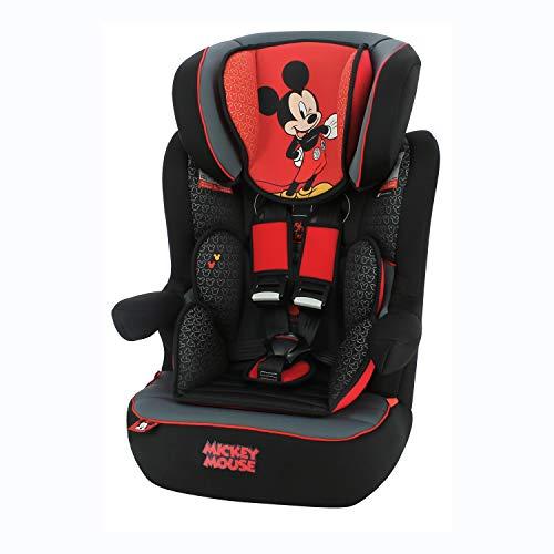 Nania Imax Autositz Gruppe 1/2/3, 9-36 kg, mit seitlichem Schutz, verstellbar, Micky Maus 1 Stück