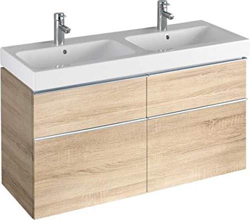 Keramag iCon Waschtischunterschrank 1190 x 620 x 477 mm, für Doppelwaschtisch Korpus/Front: Holzstruktur Eiche Natur