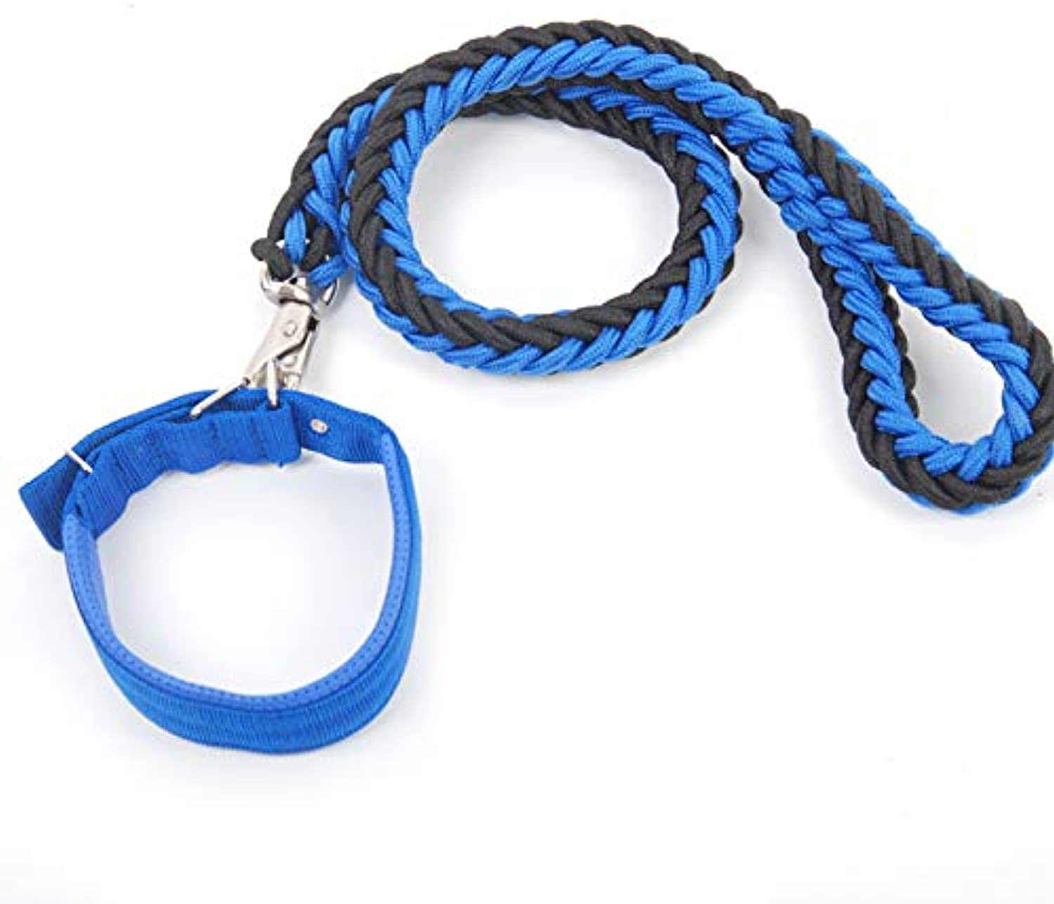Dog Lead Rope,Pet Leash with Soft Padded Nylon Braided Strong Heavy Duty Dog Training Lead Leash for Large and Medium Dogs 1.2m 3.9ft (Size   S)