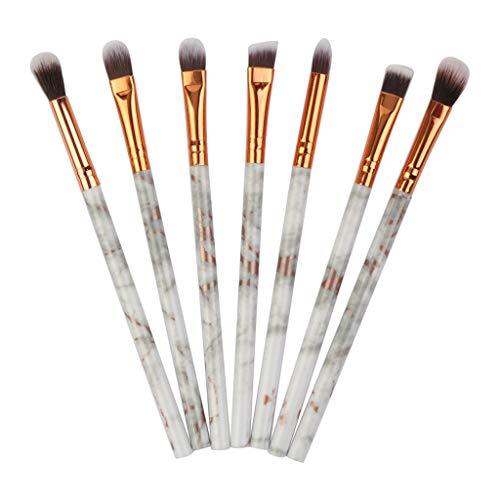 POachers Kit de 7 Pinceaux Maquillage - Marbre Brosse de Maquillage/Brush Cosmétique Beauté & Make-up Make Up Brush Pinceau cosmétique de qualité Professionnel