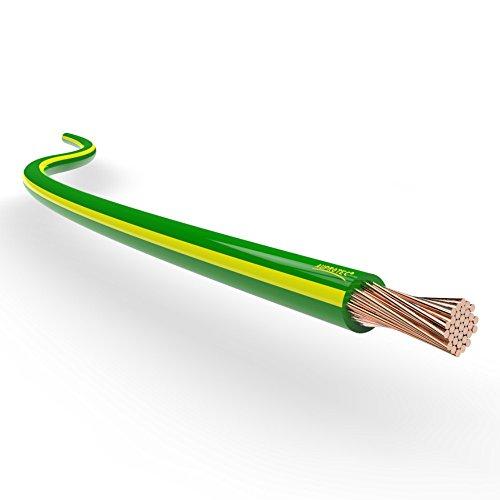 AUPROTEC® Fahrzeugleitung 0,75mm² 1mm² 1,5mm² Längen 5m oder 10m: 5m 1,5 mm² grün-gelb