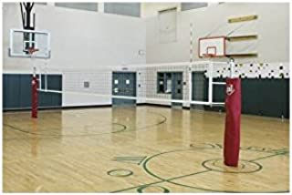 Gared Scholastic Telescope 2 Court Volleyball System Without Floor Sleeves and Covers