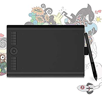 GAOMON M10K PRO 10 x 6.25 Inches Art Digital Graphic Tablet for Drawing Supports Tilt & Radial Function with 10 Shortcut Keys Work on Android OS & PC