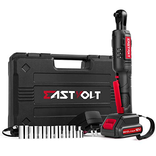 Eastvolt 12V Cordless Electric Ratchet Wrench Set, 3/8 Inch 35ft-lbs Power Wrench Tool Kit, with...