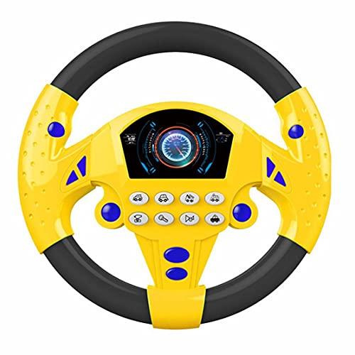 Ygerbkct Volante Coches de Juguete Conducción simulada Volante Música eléctrica Simulación Música...