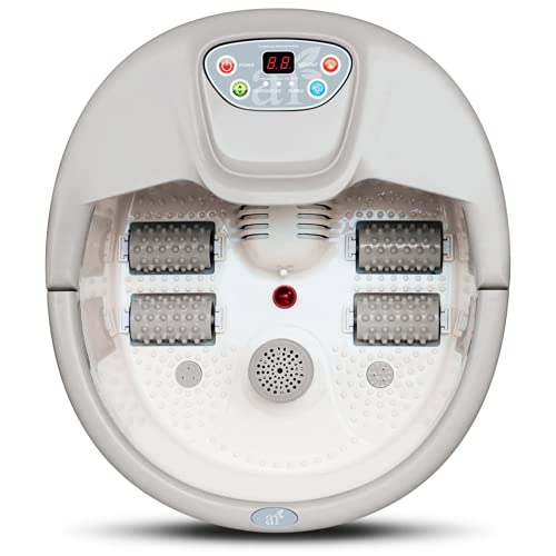 artnaturals Foot Spa Massager - Lights & Bubbles - Heated - Temperature Control - Soothe & Relax Tired Feet w/ All in One Therapeutic Home Salon & Massager Tub - Foot Bath Pedicure