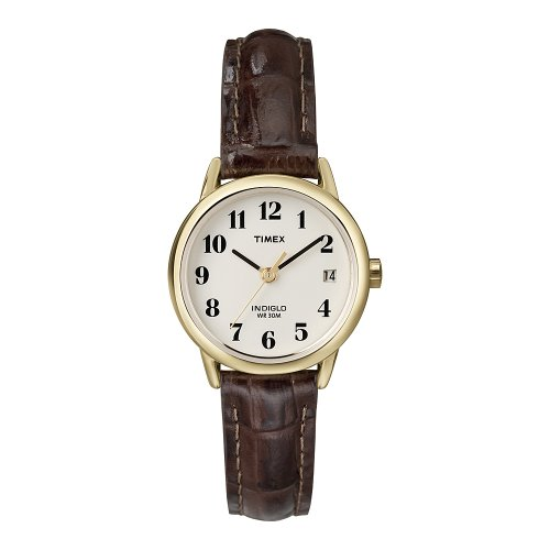 Timex Damen-Armbanduhr Easy Reader Braun Leder T20071