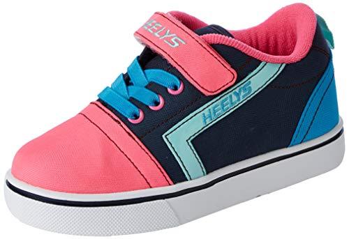 Heelys GR8 Pro X2 (he100614), Zapatillas para Niñas, Multicolor (Navy/Pink/Cyan Navy/Pink/Cyan), 32 EU
