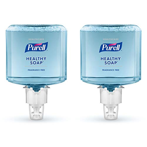 PURELL Healthcare HEALTHY SOAP Gentle and Free Foam, Fragrance Free, EcoLogo Certified, 1200 mL Hand Soap Refill for PURELL ES6 Touch-Free Soap Dispenser (Pack of 2) - 6472-02