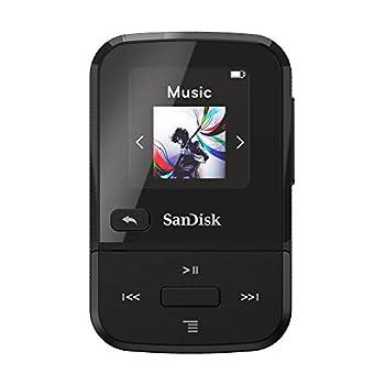SanDisk 16GB Clip Sport Go MP3 Player Black - LED Screen and FM Radio - SDMX30-016G-G46K