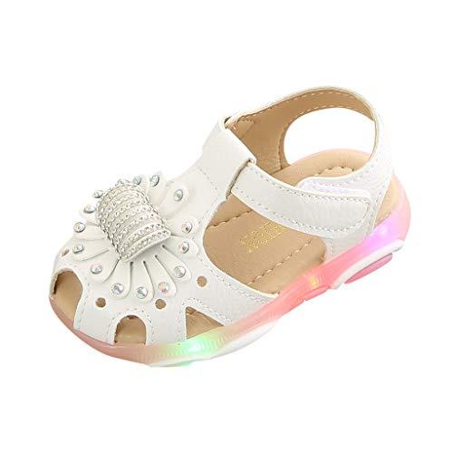 Heißer Mädchen LED Licht Sandalen Baby Kinder Sommer Elegant Modisch Einfarbig Süß Leuchtend Prinzessin Schuhe Weich Freizeit Atmungsaktiv Elastisch rutschfest Outdoorsandalen