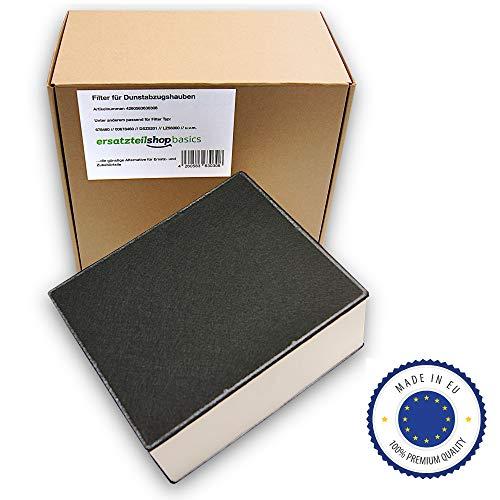 ersatzteilshop basics Premium Aktivkohlefilter Dunstabzugshaube Geruchsfilter für Siemens, Bosch, Neff, Gaggenau - passt für 678460/00678460 / LZ562