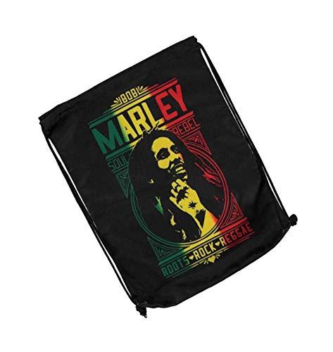 Bob Marley Gym Bag Roots Rock Reggae Logo Soul Rebel offiziell Schwarz