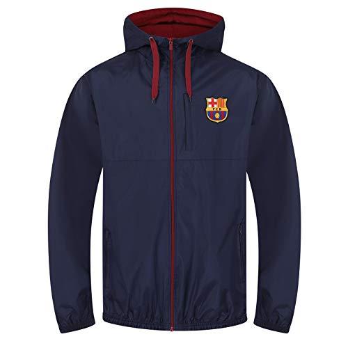 FC Barcelona - Chaqueta cortavientos oficial - Para hombre - Large