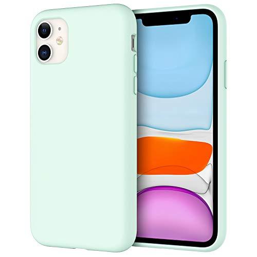 """JETech Funda de Silicona Compatible iPhone 11 (2019) 6,1"""", Sedoso-Tacto Suave, Cubierta a Prueba de Golpes con Forro de Microfibra (Espuma de mar)"""