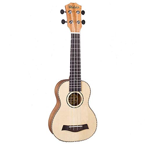 JIAQ Ukelele de música para principiantes, regalo de madera de abeto natural, ukelele de Hawaii, guitarra de 4 cuerdas (color natural, tamaño: 53 cm) (color: natural, tamaño: 53 cm)