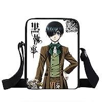 Anime Black Butler School Crossbody Bag Beautiful Shoulder Bag Children Boys Girls Casual Handbags Fashion