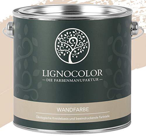Lignocolor Wandfarbe Innenfarbe Deckenfarbe Kreidefarbe edelmatt 2,5 L (Sahara)