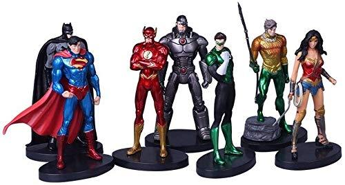 QI-shanping Justice League DC Superman Wonder Woman Batman-Flash, Spielzeug Statue Modell Desktop-Dekoration, PVC-Sammlung Fertigkeit-Dekoration-Geschenk Höhe über 13cm