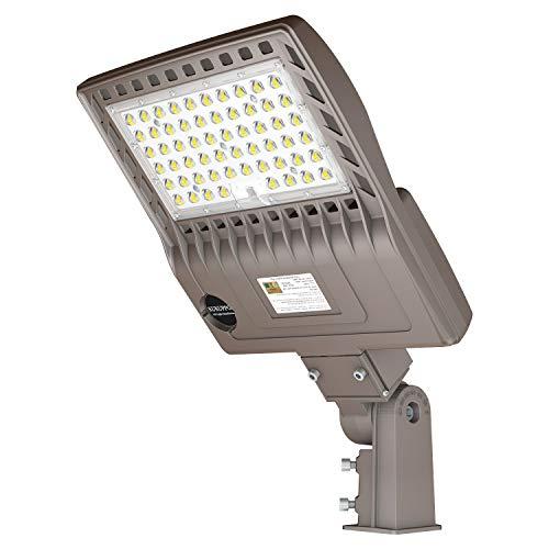 LED Parking Lot Lights 200W, DLC/UL 28000LM 5000K Daylight LED Shoebox Street Pole Lights[800W HID/HPS Replacement] Outdoor IP65 Waterproof 110V 120V Commercial Area Road Lighting Slip Fitter