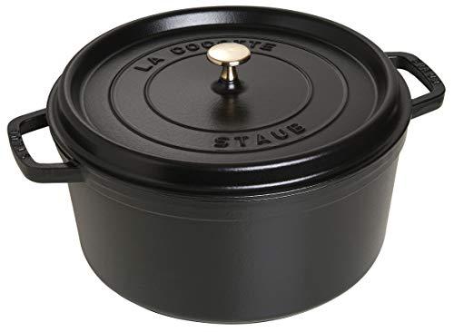 STAUB Cocotte en Fonte, Ronde 30 cm, 8,35 L, Noir