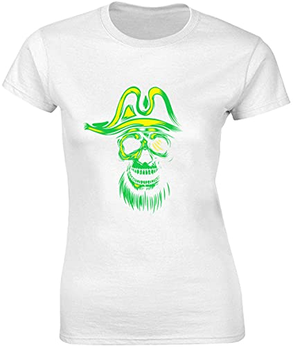Cool Glowing Pirate Silhouette Camiseta de mujer bnft