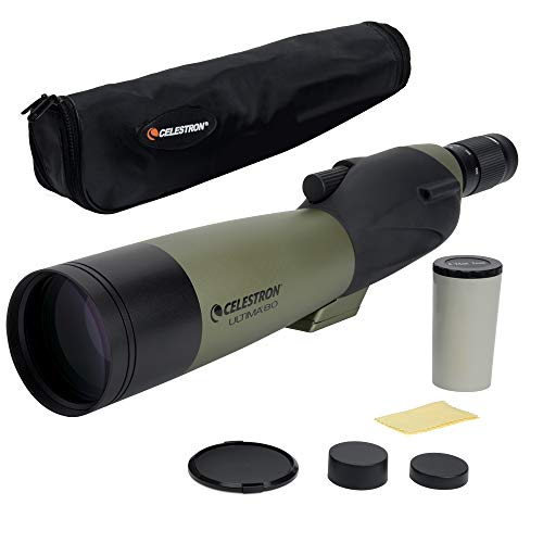 Celestron – Ultima 80 Straight Spotting Scope – 20 to 60x80mm Zoom Eyepiece – Multi-Coated Optics for Bird Watching,...