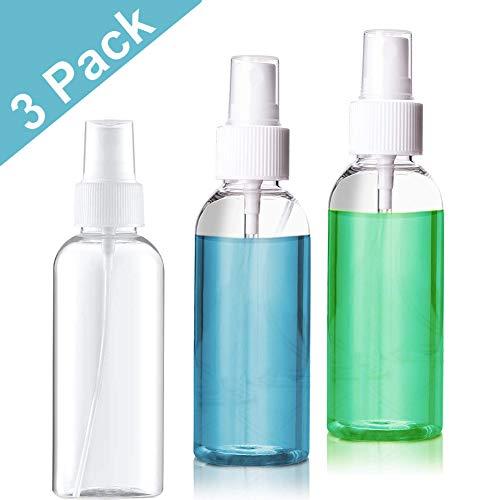 (3 Stück) 50 ml Zerstäuber-Sprühflasche Feinen Nebel Leere Transparente Zerstäuberflasche Sprühflasche Nachfüllbarer Feinzerstäuber tragbare Reiseflasche - klar