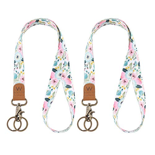 Lanyard for Keys, Nice Pattern Neck Strap Key Chain Holder Lanyards for ID Badges (Big Flowers)