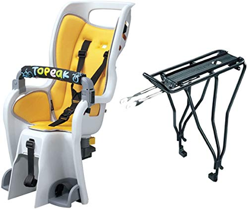 Topeak Baby Seat II 26 Inch Disc Rack Bicycle Baby Seat with 6 Point...