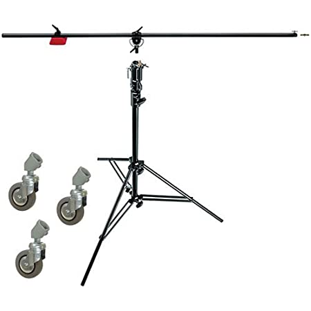 Manfrotto 085BS Heavy Duty Light Boom Includes 008BU Stand with Casters (Black)