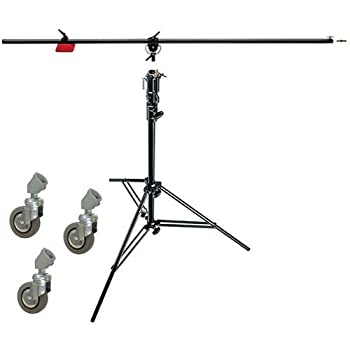 Manfrotto 085BS Heavy Duty Light Boom Includes 008BU Stand with Casters Black