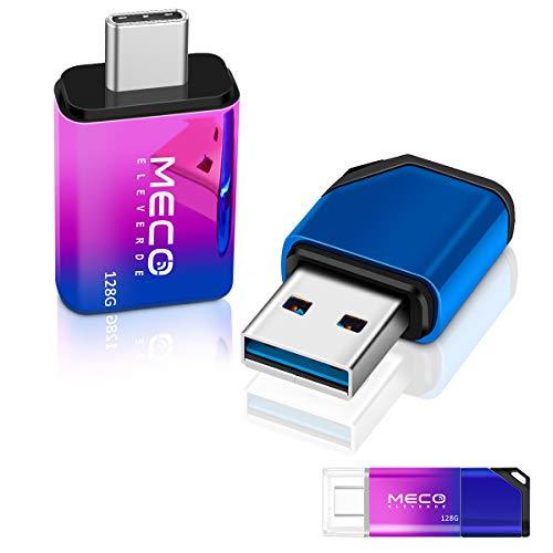 MECO ELEVERDE USB Stick 64GB, USB C Stick OTG USB 3.0 Stick 2-in-1 Speicherstick wasserdichte Flash Drive Memory Stick mit Seil tragen für PC/Laptop/Notebook/Typ-C-Handy, usw