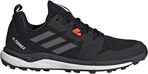 adidas Terrex Agravic W, Zapatillas de Trail Running Mujer, NEGBÁS/Gricua/Rojsol, 38 2/3 EU