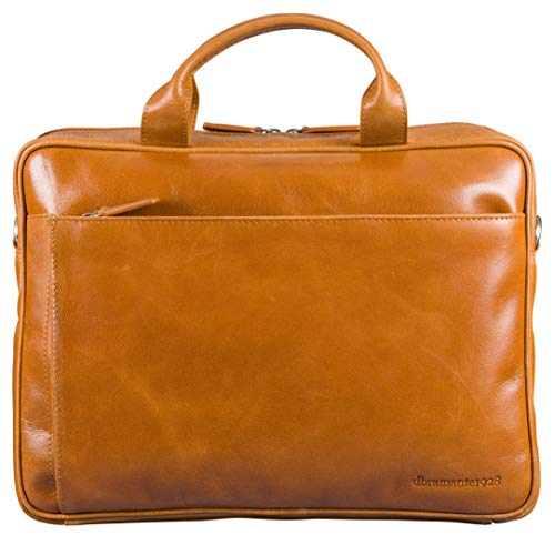 dbramante1928 Amalienborg laptoptas | Handgemaakt volnerfleer, 15 Inch, bruin