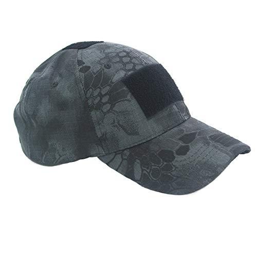 Cobra Tactical Solutions Victor Cap in Black Python Camo | 3 Plätze für Patches | Camo Baseball Kappe | Taktische Kappe für Airsoft, Cosplay, Universalgröße