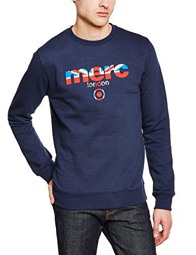 Merc of London Herren Sweatshirt Otto, Gr. Large (Herstellergröße: Large), Blau (Navy 2)