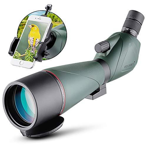 MAXLAPTER 20-60x80mm Spotting Scope with Tripod Waterproof BAK4 Eyepiece Telescope for Target Shooting Bird Watching Hunting Archery Range Outdoor