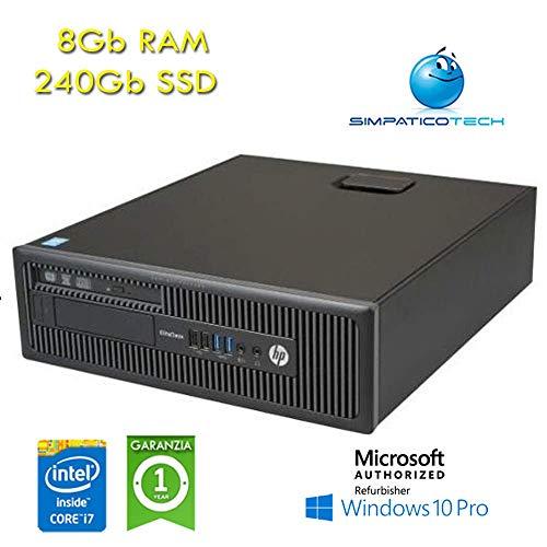 HP EliteDesk 800 G1 SFF Core i7-4770 3.4GHz 8 Gb 240 Gb SSD Windows 10 Professional mit neuen Simpaticotech MAR Microsoft Authorized Refurbisher (Nachbestellung)