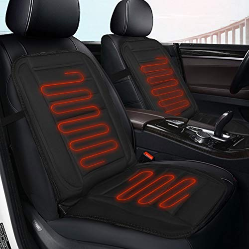 Heated Car Seat Cushion, Universal 12V Heated Multifunctional Car Seat Heater Fast Warming for Cold Weather Winter Driving Safer, Heated Seat Cover for Car/Truck/Home/Office Chair Use