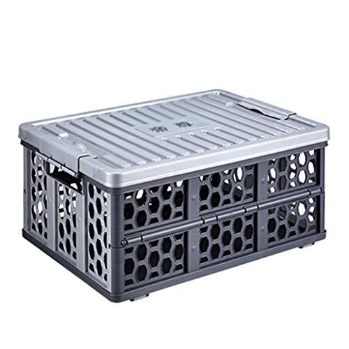 Coffre de Rangement Multifonctionnel pour Coffre de Voiture Coffre de Rangement pour Coffre de Voiture (Color : Gray, Size : 47 * 35 * 22.5cm)