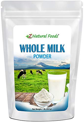 Powdered Whole Milk - Shelf Stable Dry Milk Powder - Dried For Emergency Long Term Food Storage - Great For Cooking, Baking, Cereal, Coffee, & Tea - Non GMO & Gluten Free - 1 lb