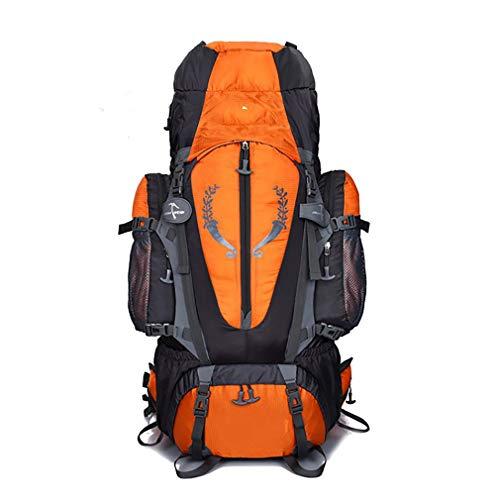QLJJSD 登山バッグアウトドア防水大容量ハイキング登山バッグサスペンションブラケットトラベルリュックサック70L アウトドア用品 (Color : Orange)