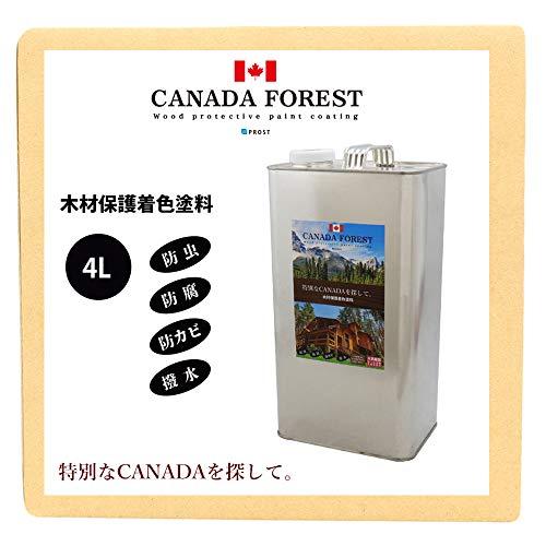 プロが選ぶNo.1! カナダフォレスト/ 4L /カナディアンクリア 木材保護塗料