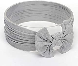 JIANGNIAU Fashion Cute Bowknot Infant Baby Girl Hairband Headwear Headbands(Beige#24) (Color : Gray#15)