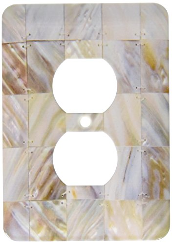 3dRose LLC lsp_50911_6 Mother of Pearl, 2 Plug Outlet Cover