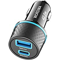 Wordima USB C Car Charger Compatible with iPhone12/11/X/8/Samsung/Google Pixel/Oneplus/iPad Pro