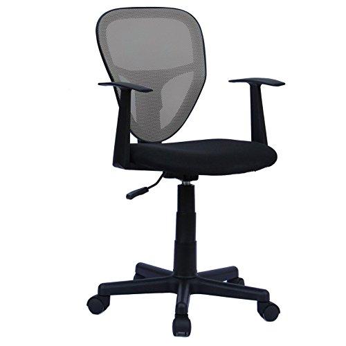 CARO-Möbel Schreibtischstuhl Studio Kinderdrehstuhl Bürostuhl Drehstuhl in schwarz/grau mit Armlehnen, höhenverstellbar